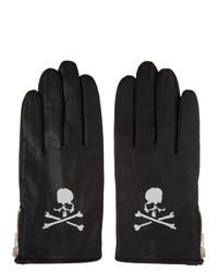 Mastermind World Black Leather Logo Gloves