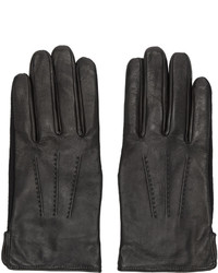 A.P.C. Black Leather Luc Gloves