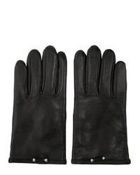 Neil Barrett Black Leather Pierced Gloves