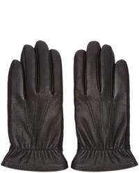 rag & bone Black Leather Windsor Gloves