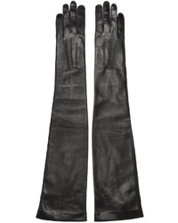 Ann Demeulemeester Black Long Joris Gloves