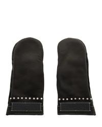 Loewe Black Moufle Mittens