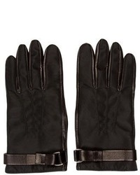 Prada Black Nylon Gloves