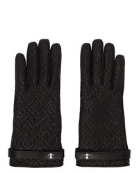 Burberry Black Quilted Monogram Gloves