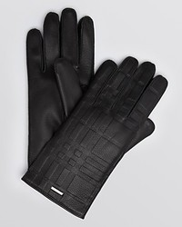 Burberry London Embossed Leather Gloves
