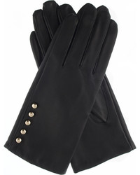 Dents Button Leather Gloves
