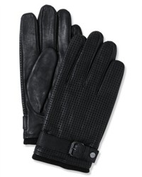 Calvin Klein Gloves Perforated Leather