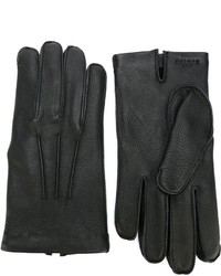 Canali Classic Leather Gloves