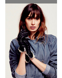 Carolina Amato Shearling Cuff Leather Glove