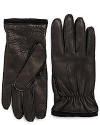 Cashmere Lined Deerskin Leather Gloves