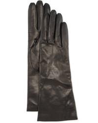 Portolano Cashmere Lined Leather Gloves Black