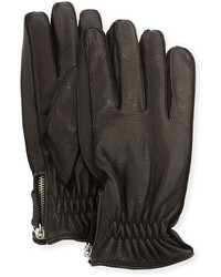 Cashmere lined leather gloves medium 1138799