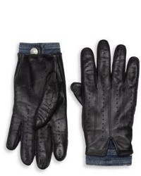 DSQUARED2 Cashmere Lined Leather Gloves