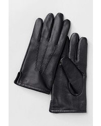 Classic Cashmere Lined Leather Gloves  Navy