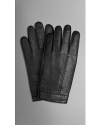 Burberry Cashmere Lined Leather Touch Screen Gloves