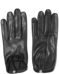 Causse Gantier Grace Crystal Embellished Leather Gloves