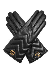 Gucci Chevron Quilted Leather Gloves