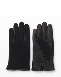 Club Monaco Half Knit Leather Glove