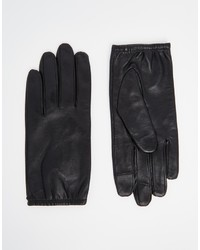 Asos Collection Plain Leather Gloves With Touch Screen