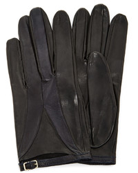 Imoni Color Blocked Lambs Leather Glove With Strap