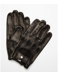All Gloves Cork Nappa Leather Snap Close Driving Gloves