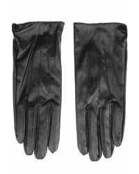 Cuccia Italia Black Leather Gloves