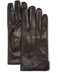 Deerskin leather classic gloves with side slit medium 705036