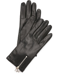 Diane von Furstenberg Zip Leather Gloves
