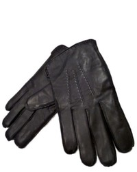 Dockers Black Leather Lambskin Gloves With Fleece Thinsulate Lining
