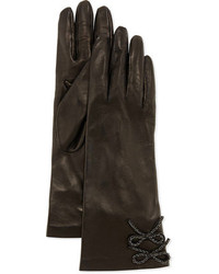 Portolano Double Chain Bow Leather Gloves