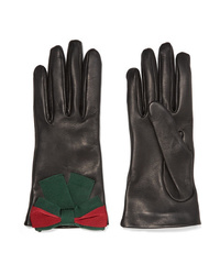 Gucci Ed Textured Leather Gloves