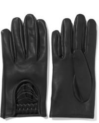 Brunello Cucinelli Embellished Leather Gloves Black