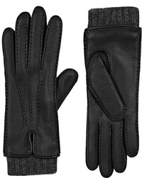 Barneys New York Extended Cuff Leather Gloves