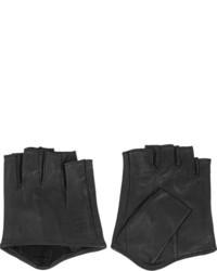 Karl Lagerfeld Fingerless Leather Gloves