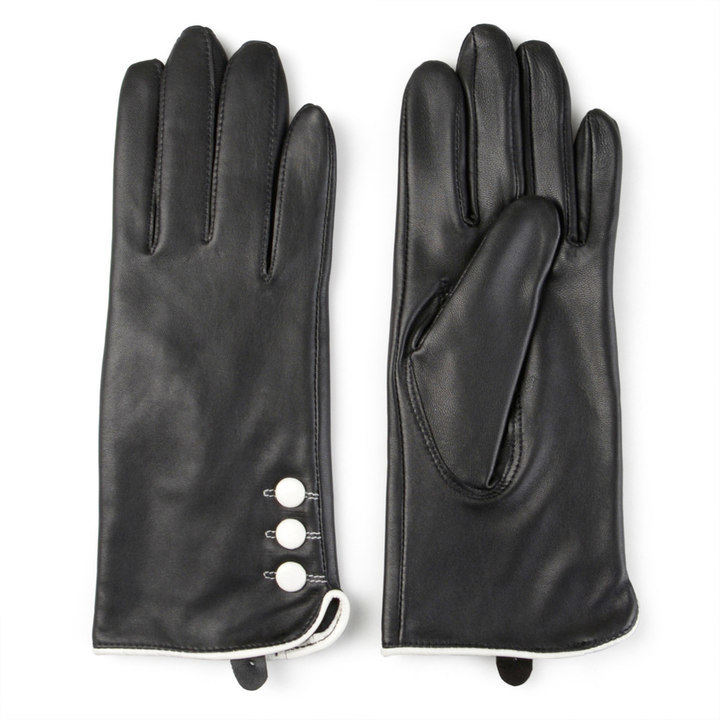 Journee Collection Fleece Lined Leather Gloves