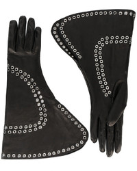 Alexander McQueen Fold Over Embellished Gloves