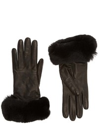 Barneys New York Fur Cuff Gloves