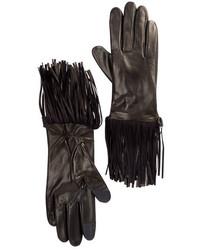 Rebecca Minkoff Genuine Goat Leather Double Fringe Gloves