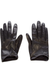 Gucci Gg Leather Gloves