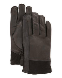UGG Australia Gibson Leather Gloves Black