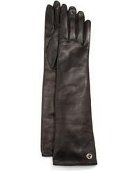 Gucci Guanti Donna Napa Leather Opera Gloves Black