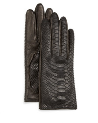 Guanti Pythonnapa Leather Gloves Blacknavy