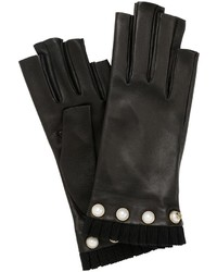 Gucci Nappa Leather Fingerless Gloves