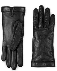 Gucci Signature Leather Glove