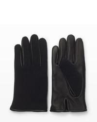 Club Monaco Half Knit Leather Glove