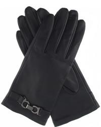 Dents Hardware Detail Leather Gloves