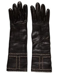 Hermes Herms Lambskin Cashmere Gloves