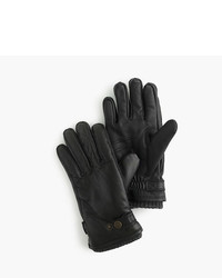 J.Crew Hestra Leather Primaloft Ribbed Gloves