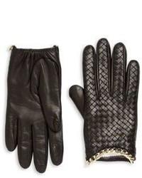 Portolano Intrecciato Weave Leather Gloves