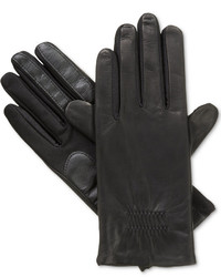 Isotoner Gathered Stretch Leather Smartouch Tech Gloves